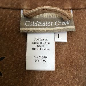 Coldwater Creek Jackets & Coats - Coldwater Creek 100% Leather Jacket With Patterb